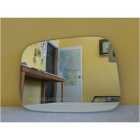 VOLKSWAGEN CADDY 2/2005 to CURRENT - VAN   RIGHT SIDE MIRROR - flat glass only -143mm wide X 200mm high.