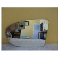 NISSAN DUALIS J10 - 5DR WAGON 10/2007>CURRENT - PASSENGER - LEFT SIDE MIRROR GLASS - FLAT GLASS ONLY - 195W X 138 H
