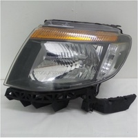 FORD RANGER PX - UTE 9/2011>1/2015 - PASSENGER - LEFT SIDE HEADLIGHT - BLACK