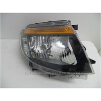 FORD RANGER PX - UTE 9/2011>1/2015 - DRIVER - RIGHT SIDE HEADLIGHT - BLACK