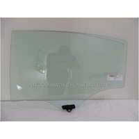 KIA CERATO YD - 5/2013 to CURRENT - 5DR HATCH - LEFT SIDE REAR DOOR GLASS (WITH FITTING) - GREEN
