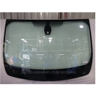 RENAULT TRAFFIC X82 -1/2015 to CURRENT - FRONT WINDSCREEN GLASS - RAIN SENSOR,MIRROR BUTTON - GREEN - NEW
