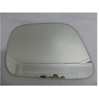 NISSAN NAVARA D40 - 12/2005 to 03/2015 - UTE - LEFT SIDE MIRROR - FLAT GLASS ONLY - NEW - 235 x 160h- only suits AMPAS 8699-E4-022676