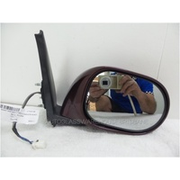NISSAN MICRA K12 - 8/2007 to 10/2010 - HATCH - RIGHT SIDE MIRROR - BURGUNDY - COMPLETE - ELECTRIC