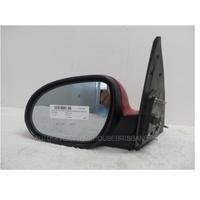 HYUNDAI i30 FD - 9/2007 to 4/2012 - 5DR HATCH - LEFT SIDE MIRROR - COMPLETE - RED - ELECTRIC