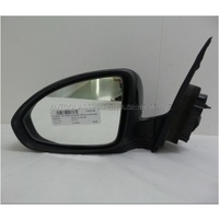 HOLDEN CRUZE JG/JH - 5/2009 to 6/2012 - 4DR SEDAN - LEFT SIDE MIRROR - COMPLETE - BLACK METALLIC - ELECTRIC - E13 027379