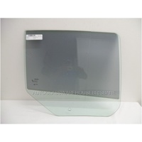 DODGE CALIBER PM - 8/2006 to 12/2011 - 5DR HATCH - RIGHT SIDE REAR DOOR GLASS (1 HOLE) - GREEN