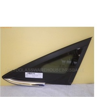 FORD FIESTA  WS/WT - 3/4/5DR HATCH 1/09>CURRENT - LEFT FRONT DOOR QUARTER GLASS - ENCAPSULATED (chrome mould)
