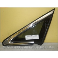 MAZDA CX-7 - 4DR WAGON 11/07>2/12 - LEFT SIDE FRONT QUARTER GLASS (Chrome encapsulated)