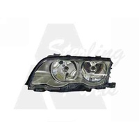 BMW 3 SERIES E46 - 4DR SEDAN 9/98>10/01 - PASSENGER - LEFT SIDE HEADLIGHT - NEW (SILVER/GREY)