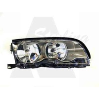 BMW 3 SERIES E46 - 2DR COUPE/CONVERTIBLE 10/01>9/03 - DRIVERS - RIGHT SIDE HEADLIGHT - NEW (GREY)