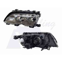BMW 3 SERIES E46 - 4DR SEDAN/WAGON 11/01>2/05 - PASSENGER - LEFT SIDE HEADLIGHT - NEW (DARK GREY)