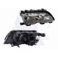 BMW 3 SERIES E46 - 4DR SEDAN/WAGON 11/01>2/05 - DRIVERS - RIGHT SIDE HEADLIGHT - NEW (DARK GREY)