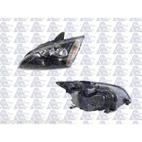 FORD FOCUS LS/LT - SEDAN/HATCH 1/05>2/09 - PASSENGER - LEFT SIDE HEADLIGHT - NEW - BLACK