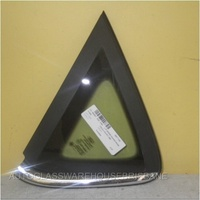 FORD FIESTA WS/WT - 5DR HATCH 1/09>CURRENT - LEFT SIDE REAR OPERA GLASS (chrome/encapsulated)