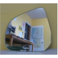 SUZUKI ALTO GF - 5DR HATCH 7/09>CURRENT - PASSENGER - LEFT SIDE MIRROR - NEW (flat mirror glass only) 135mm X 115mm