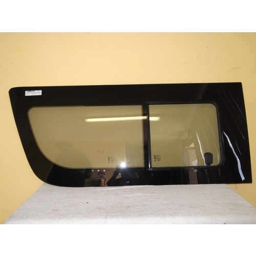 suitable for TOYOTA HIACE 200 Series 4/05 to CURRENT LEFT SIDE FRONT SLIDING UNIT (glass in glass)