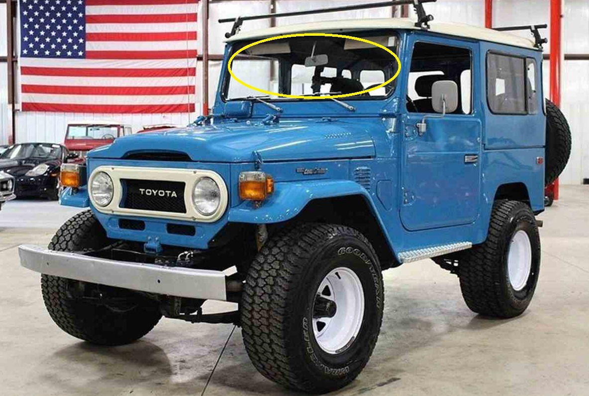 Suitablefortoyotalandcruiser40 45 47series Troopy Utility 1973 Toyota Land Cruiser Wheelbase Width Suitable For Landcruiser 40 47 Series 1976 1984 Front Windscreen 1298 X 390 New