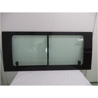 FORD TRANSIT VH/VJ/VM - 11/2000 TO 9/2014 - MWB/LWB/JUMBO - RIGHT SIDE COMPLETE SLIDING WINDOW GLASS - GREEN -DOES NOT SUIT W/ RIGHT SIDE SLIDING DOOR