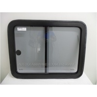 RENAULT MASTER X70 LWB - 9/2004 to 3/2011 - VAN - LEFT SIDE MIDDLE SLIDING GLASS (SINGLE SLIDER) - 836w x 658h