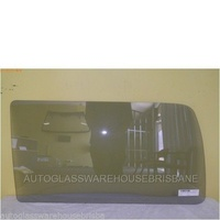 TOYOTA HIACE SBV - 10/1995 to 11/2003 - SWB VAN - PASSENGERS - LEFT SIDE REAR FIXED WINDOW GLASS - RUBBER IN