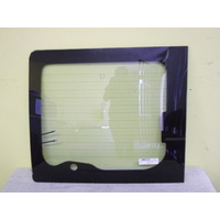 FORD TRANSIT VH/VJ/VM - 11/2000 TO 9/2014 - VAN - LEFT SIDE REAR BARN DOOR GLASS - HEATED WITH WIPER HOLE & BRAKE LIGHT - 635H X 735W - GREEN - NEW
