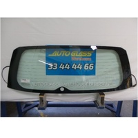 TOYOTA RAV4 30 SERIES - 1/2006 to 2/2013 - 5DR WAGON - REAR WINDSCREEN GLASS - HEATED, ANTENNA, WIPER HOLE - GREEN