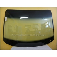 VOLKSWAGEN CADDY - 2/2005 TO CURRENT - VAN - FRONT WINDSCREEN GLASS - WITH ANTENNA, MIRROR BUTTON, TOP SIDE MOULD, RETAINER