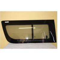 TOYOTA HIACE 200 SERIES - LEFT FRONT BONDED SLIDING WINDOW GLASS - REAR PIECE SLIDES FORWARD - NEW