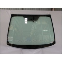 TOYOTA PRIUS ZVW30R - 7/2009 to 12/2015 - 5DR HATCH - FRONT WINDSCREEN GLASS - RAIN SENSOR,MIRROR BUTTON INSIDE DOT SHADE,TOP MOULD - GREEN