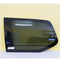 TOYOTA PRADO 120 SERIES - 2/2003 to 10/2009 - 5DR WAGON - LEFT SIDE REAR CARGO FLIPPER GLASS - ONE HOLE, ANTENNA - PRIVACY  TINT