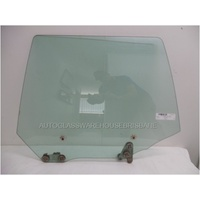 SUBARU FORESTER - 8/1997 to 5/2002 - 5DR WAGON - LEFT SIDE REAR DOOR GLASS - GREEN
