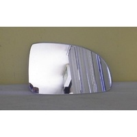 KIA RIO Series 2 - 5DR HATCH 7/00>8/05 - RIGHT SIDE MIRROR - (glass only -173mm X 104mm - sharp front upper corner)