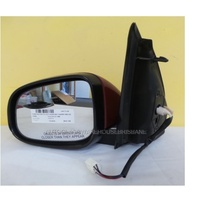 FORD FALCON FG - 5/2008 TO 10/2014 - SEDAN/UTE - LEFT SIDE MIRROR - COMPLETE - ELECTRIC - CHERRY RED