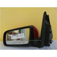 HOLDEN COMMODORE VY/ VZ - SEDAN/WAGON/UTE 10/2002>9/2007 - PASSENGER - LEFT SIDE COMPLETE MANUAL MIRROR - red (genuine)