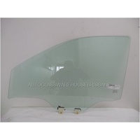 NISSAN NAVARA D23 - NP300 - 3/2015 to CURRENT - UTE - PASSENGERS - LEFT SIDE FRONT DOOR GLASS - WITH FITTINGS - GREEN