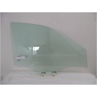 NISSAN NAVARA D23 - NP300 - 3/2015 to CURRENT - UTE - DRIVERS - RIGHT SIDE FRONT DOOR GLASS - WITH FITTINGS - GREEN