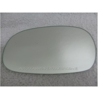 DAEWOO LANOS SE/SX - 8/1997 to 1/2004 - HATCH - PASSENGERS - LEFT SIDE MIRROR - FLAT GLASS ONLY - 170MM X 100MM