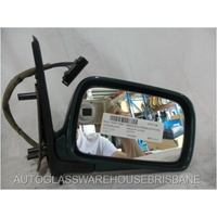 VOLKSWAGEN POLO 6N/S3 - 1994 TO 2000 - 5DR HATCH - RIGHT SIDE MIRROR - GREEN - ELECTRIC - COMPLETE - 202274