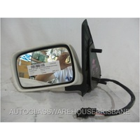 VOLKSWAGEN POLO 6N/S3 -  1994 TO 2000 - 5DR HATCH - LEFT SIDE MIRROR - WHITE - ELECTRIC - COMPLETE - 202273