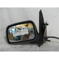 VOLKSWAGEN POLO 6N/S3 - 1994 TO 1/2000 - 5DR HATCH - LEFT SIDE MIRROR - ELECTRIC - COMPLETE - GREY - BLACK PLUG