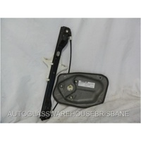 VOLKSWAGEN GOLF V - 2006 to 2009- 4DR HATCH - PASSENGER - LEFT SIDE REAR DOOR WINDOW REGULATOR - ELECTRIC - NO MOTOR