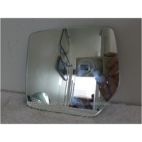 JEEP CHEROKEE KK - 2/2008 to 5/2014 - 4DR WAGON - LEFT SIDE MIRROR - FLAT GLASS ONLY - 164mm WIDE X 153mm HIGH