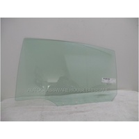 MAZDA 2 DJ - 10/2014 TO CURRENT - 4DR SEDAN/5DR HATCH - LEFT SIDE REAR DOOR GLASS (WITH FITTING)