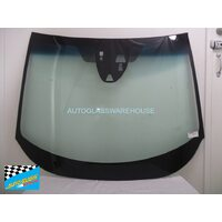 HONDA HR-V MRHRU - 12/2014 ONWARDS - 5DR WAGON - FRONT WINDSCREEN GLASS - RAIN SENSOR, 3x CAMERA, MIRROR BUTTON - GREEN, BLUE BAND