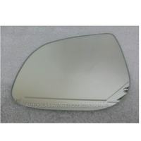 HYUNDAI i20 PB - 7/2010 to CURRENT - HATCH - LEFT SIDE MIRROR - FLAT GLASS ONLY - 150mm WIDE  X 115mm TALL - NEW