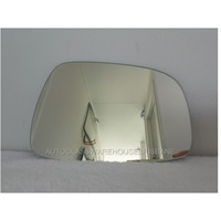 HYUNDAI ACCENT RB - 7/2011 to CURRENT - SEDAN/HATCH - LEFT SIDE MIRROR - FLAT GLASS ONLY - 174MM WIDE X 123MM HIGH