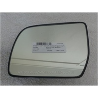 MAZDA BT-50 UP - 10/2011 to CURRENT - UTE - LEFT SIDE MIRROR WITH BACKING PLATE - FLAT GLASS ONLY