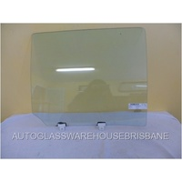 ISUZU MU-X 4WD - 11/2013 TO CURRENT - 4DR SUV - PASSENGERS - LEFT SIDE REAR DOOR GLASS - WITH FITTING