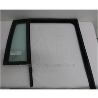 JEEP COMPASS MK - 03/2007 to 12/2016 - 4DR WAGON - RIGHT SIDE REAR QUARTER GLASS - ENCAPSULATED WITH MOULD